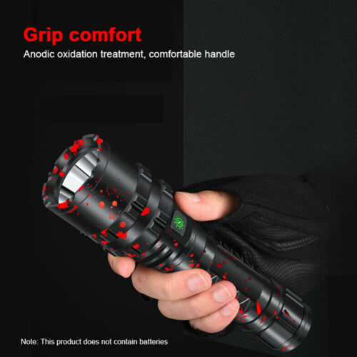 100000LM XHP50.2 LED Flashlight LED USB Charging Lamp High Power Battery