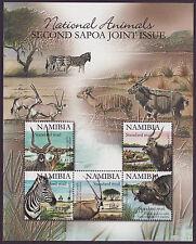 Namibia 2007 SAPOA National Animals Mini-Sheet / BLACK, MNH (Zebra, Buffalo)