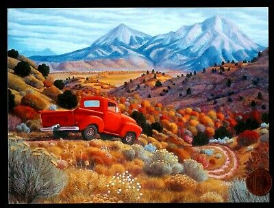 Red Sky Mountain Birthday Card