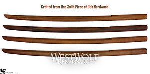 Details about Japanese Solid Oak Practice Sword -- Heavy Wooden Training  Bokken/Samurai/Katana