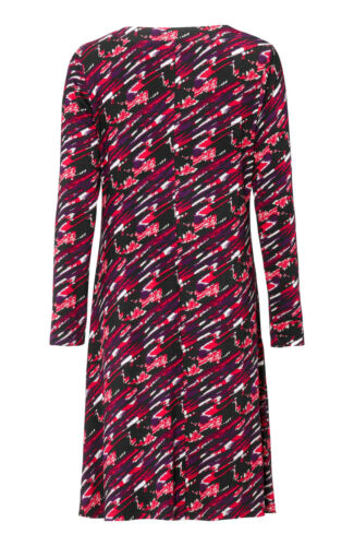 Women/'s Sizes 8-30 plus Ladies Stretchy Embellished Dress in Red Black Multi