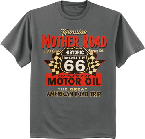 men/'s big and tall t-shirt rt 66 sign route 66 motor oil design tee shirt