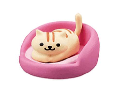 Z71 NEW Bandai Hit Point Neko Cat Atsume Figure Part 4 Neko with Pink cushion