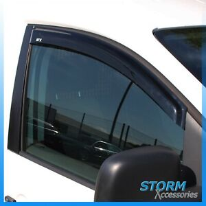 STX WIND DEFLECTORS - RAIN/ WIND VISORS - EXTERNAL FIT - PAIR FOR VW CADDY 2005+