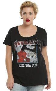 1f6ee1f514a Torrid METALLICA KILL  EM ALL Women s Girls Plus Size T-Shirt NEW ...