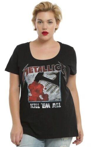 Torrid METALLICA KILL /'EM ALL Women/'s Girls Plus Size T-Shirt NEW 100/% Authentic