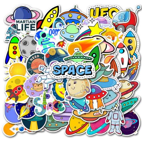 50Pcs Cartoon Space Planet Stickers Laptop Luggage Guitar Skateboard DecCC