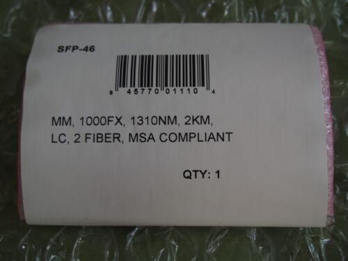 New ComNet SFP-46 1000FX 1310 nm 2 km LC 2 Fiber MSA Compliant