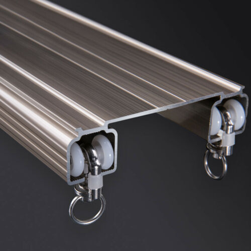 Luxurious Thick Unique Double Rails Design Straight Curtain Track Side Ceiling