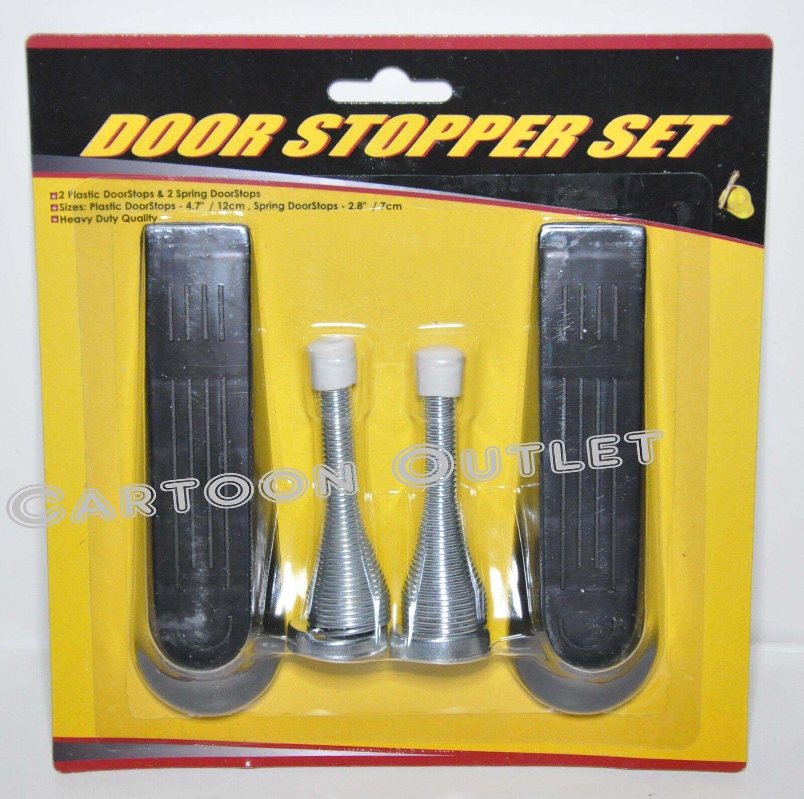 5 Pcs Door Stopper Wedge Plastic Stop Doorstop Carpet Floor Wedges White Home
