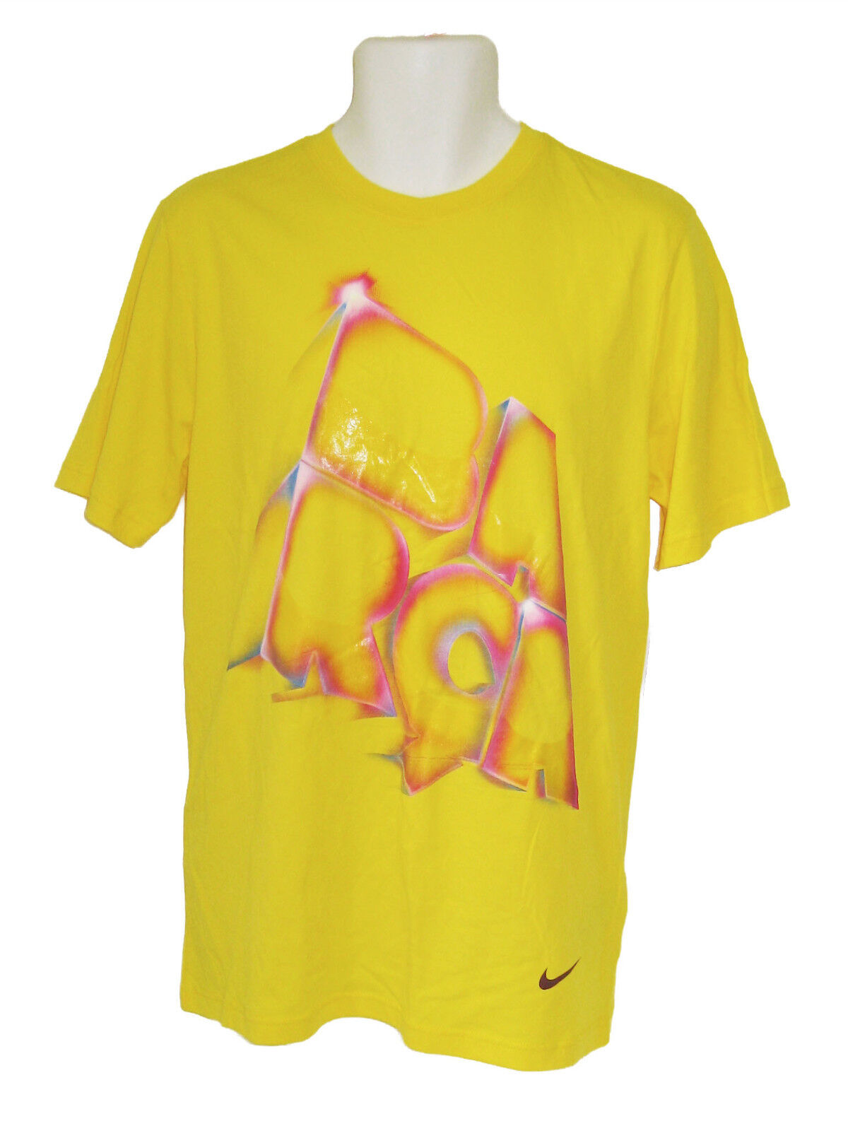 New NIKE BARCELONA FC Football BARCA Cotton Tee Shirts Zest M