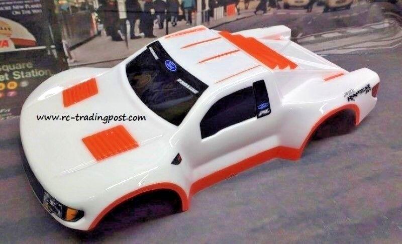 Cuerpo pintado personalizado F150 SVT Raptor para 1 10 RC corto Curso Camión Traxxas Slash