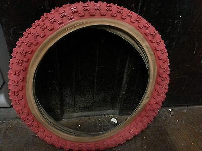 828B 16x2.125 RED or BLUEskinwall BMX Bicycle tire NOS 1