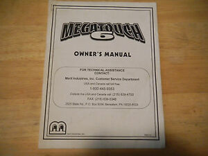 MEGATOUCH-6-MERIT-original-video-game-machine-manual