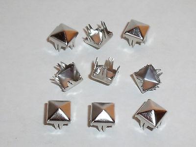 50 Stück Pyramidennieten Krallennieten Nieten 7x7 mm schwarz NEUWARE rostfrei
