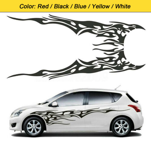 1 Pair Flame Fire Totem Car Styling side Body Sticker Graphics Decals Stickers