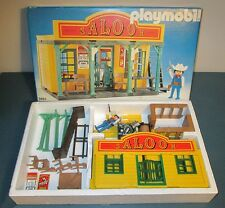 1988 PLAYMOBIL SALOON SET No. 3461  in ORIGINAL BOX w / CATALOG WEST GERMANY