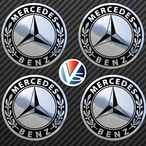 4-adhesifs-stickers-MERCEDES-chrome-40-a-100-MM-pour-centre-de-jantes