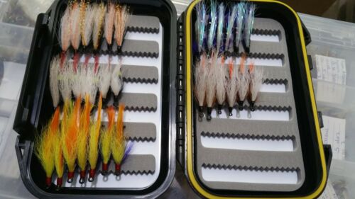 Steelhead Salmon Trout Wet Fly Assortment /& Fly Box 30 Made in USA by VETS