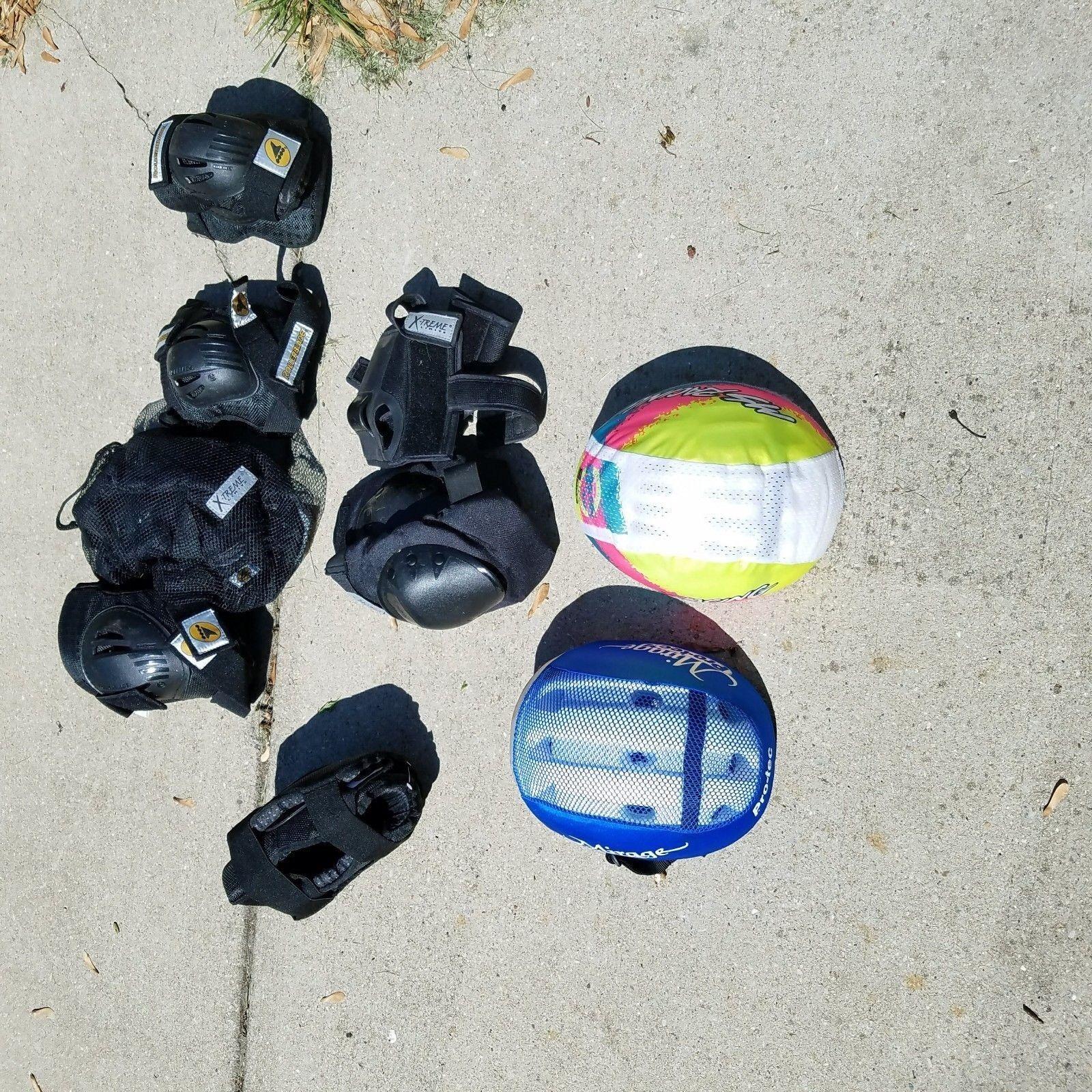 Cycling Rollerblade Knee Elbow Wrist Pad Mirage Bicycle Helmet MS Racing Lot