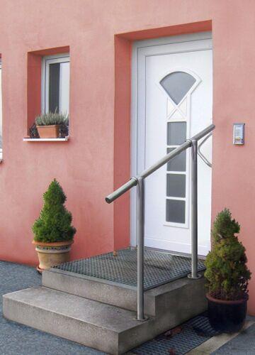 GE2 Edelstahl Geländerset für Eingang Treppengeländer Geländer Bodenmontage