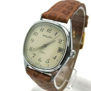 POLJOT-MCHZ1-USSR-Men-Date-Mechanical-Retro-Watch-Classic-SERVICED-Analog-Export