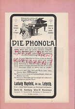 LEIPZIG, Werbung 1906 Ludwig Hupfeld AG Phonola Piano Klavier Instrumente-Fabrik