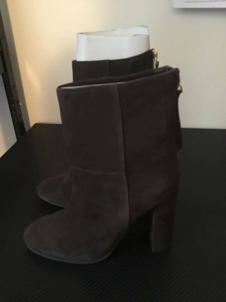 Faith Brown Britney Suede High Ankle Boots -