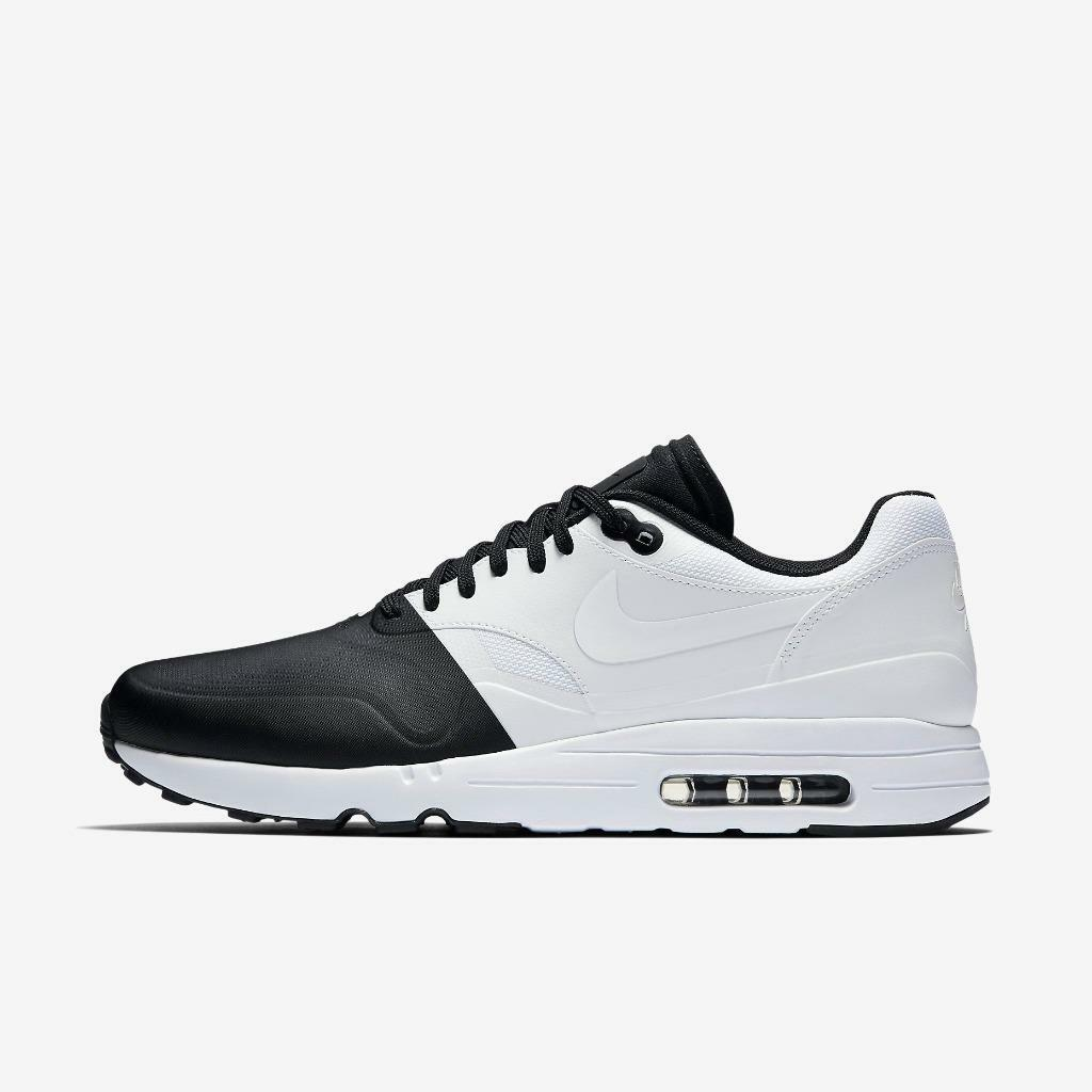 NIKE AIR MAX 1 ULTRA 2.0 SE 875845 001 BLACK/WHITE - WATER RESISTANT MUDGUARD