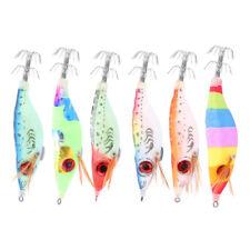 1//5pc 10cm Glow in the Dark Luminous Fishing Lures Bait Squid Hooks Shrimp C2V4