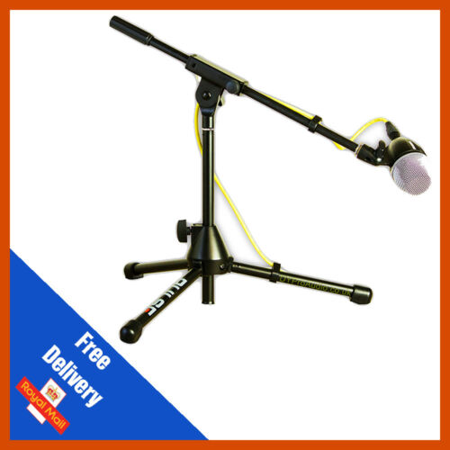 Microphone Boom Stand Short Kick Bass Snare Mic Stand With MIC CLIP