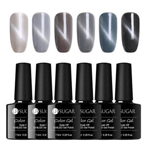 UR-SUGAR-7-5ml-Katze-Auge-Magnetisch-Soak-Off-UV-Gellack-Glittzer-Gel-Nagellack