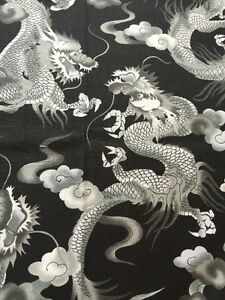 RPA331 Dragons Asian Art Japan Tattoo Style Cotton Fabric Quilt ... : tattoo quilt fabric - Adamdwight.com