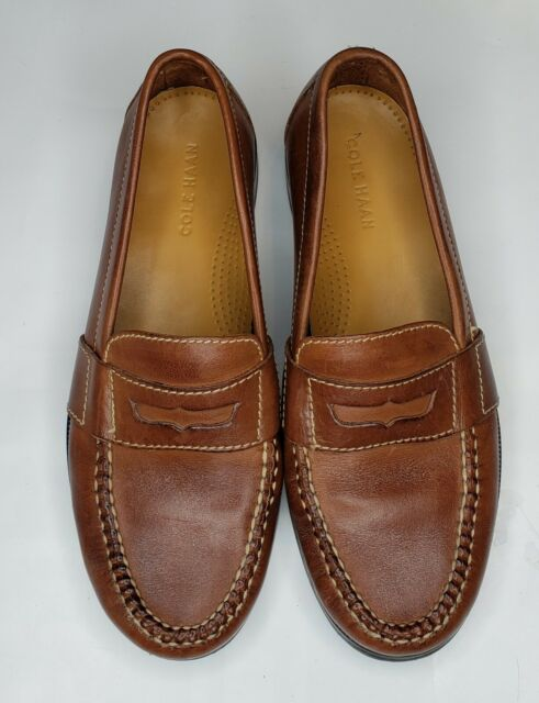 Cole Haan 01462 Douglas Men Brown Leather Penny Loafer ...
