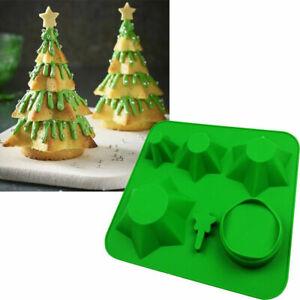 Silikonform-Mold-Weihnachten-Tree-Kuchenform-Handwerk-Abformen-Backen