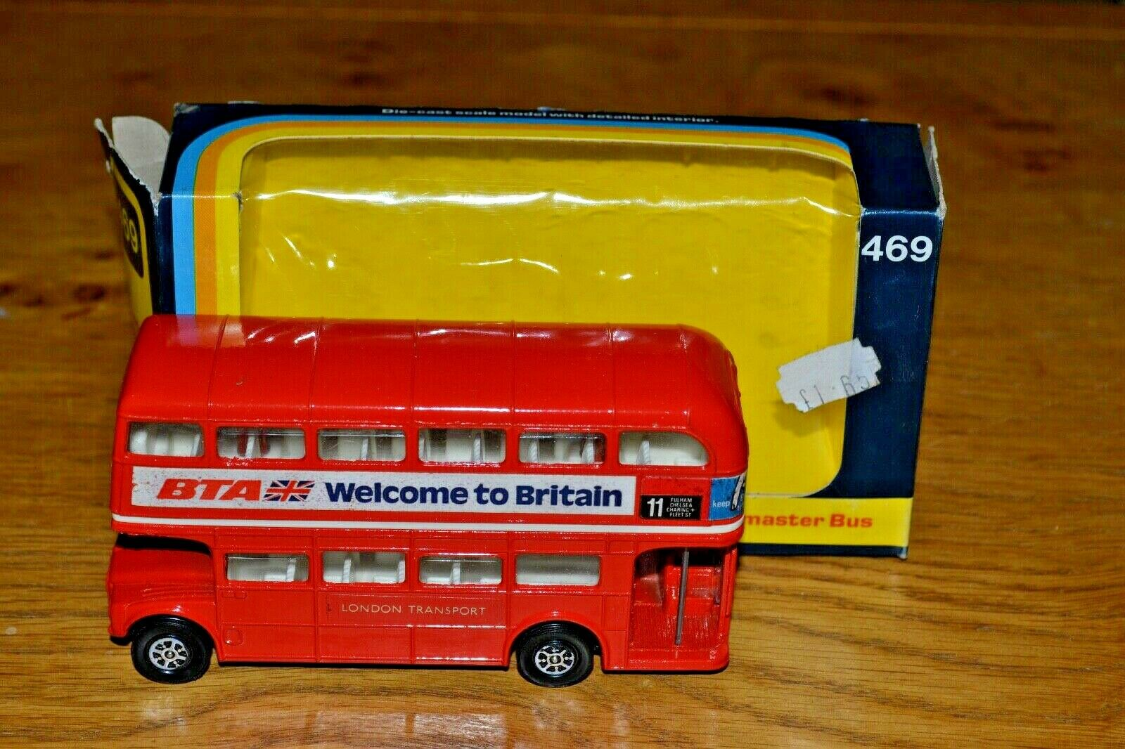 Vintage Corgi No 469 London Routemaster Bus; 1974; VGC