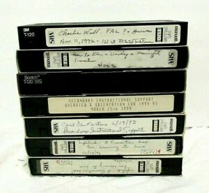 Lot-of-7-VHS-Tapes-Sold-As-Blank-Mostly-Educational-Material