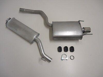 Auspuff komplett ab Kat Mercedes CLK 200 C208 Kompressor 2.0 Coupe