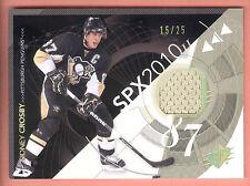 10/11 Upper Deck SPX Spectrum #81 Sidney Crosby Jersey #15/25