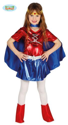 8746/_ GUIRCA Costume vestito Wonder Woman supereroe carnevale bambina mod