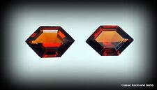 Top Hessonite Garnet Gem Pair 3 ct Hessonit Granat Edelstein Essonite granato