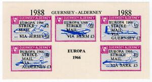 I-B-Guernsey-Cinderella-Alderney-Strike-Mail-Overprint-Commodore-Shipping
