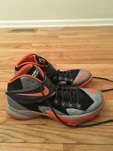 70a06475457e Nike LeBron Zoom Soldier VIII Men s Gray Orange Basketball Shoes ...