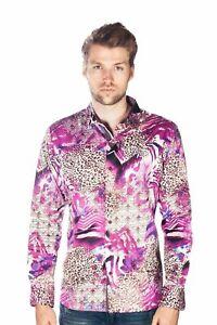 Barabas Men/'s Medusas Face Print Design  Button Down Long Sleeves Shirts B286