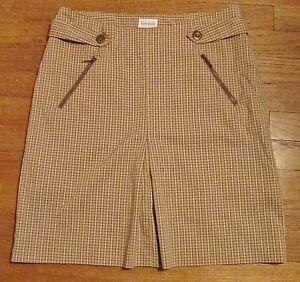 Blain & Cartwright Women's Athletic Golf Skort Skirt Tan Plaid Size 8  Excellent!   eBay