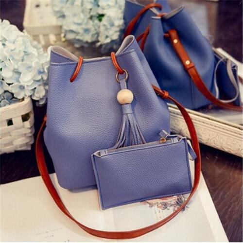 2x Women Handbag PU Leather Shoulder Bag Purse Messenger Satchel Hobo Tote Bag W