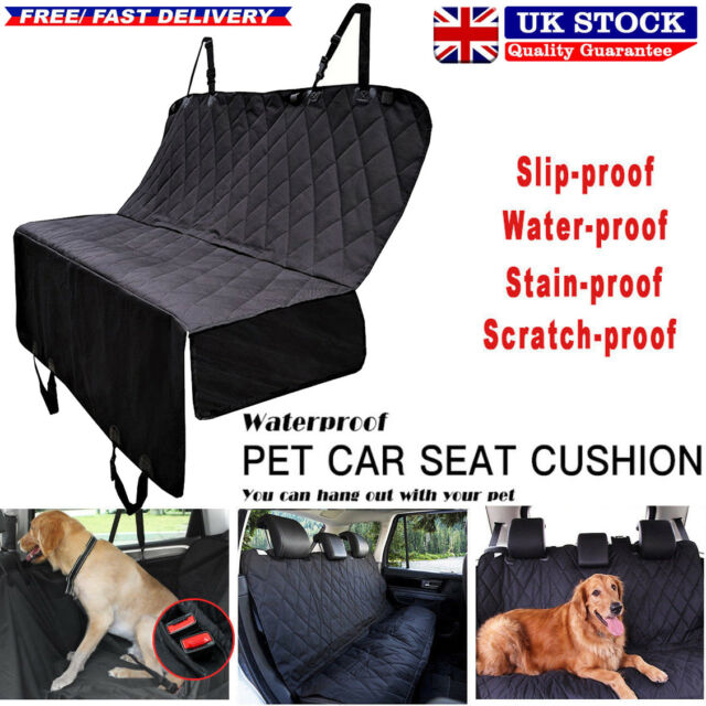 Interior Accessories black Durable Pet Back Seat Cover Waterproof Scratchproof Pet Protector Pet Seat Cover Hammock For Cars