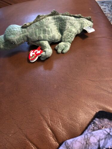 TY Beanie Baby SWAMPY the Alligator RETIRED 2000 Pristine with Mint Tags