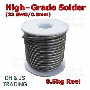 500g-Reel-High-Grade-Fluxed-Core-Solder-Wire-0-8mm-22swg-60-40-Suits-Electronics