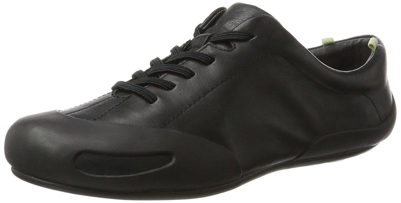 Neu Damen Camper Peu Senda 20614 Echtleder Trainers Sneakers Schwarz 35-42